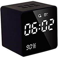 Warreal LED Screen Alarm Clock Radio Power Display Digital Clock Bluetooth Speakers