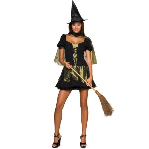 Witch On Wizard Of Oz (Secret Wishes  Women's Wizard of Oz Wicked Witch Of The West Costume, Black/Olive, Medium)