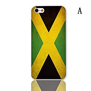HP Flag Series Pattern Hard Case with 3-Pack Screen Protectors for iPhone 5/5S , E