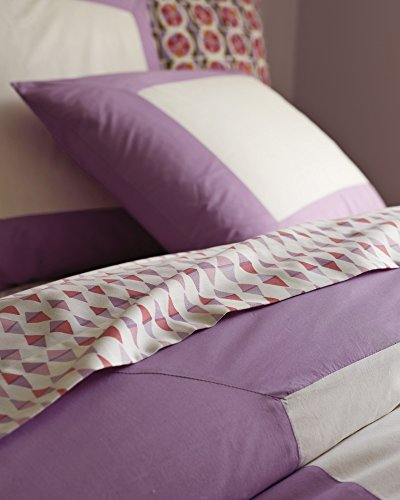 Serena and Lily Lilac Color Frame Duvet Cover, Full/Queen