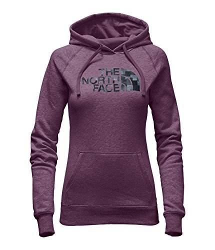The North Face Women's Patterned Half Dome Pullover Hoodie Amaranth Purple Heather ()