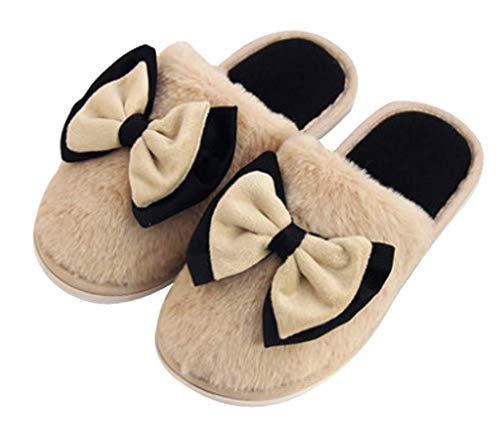 Bedroom Cotton Indoor Coffee Slippers Cute Womens House Slipper XdFqn8Ex