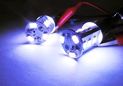 LEDIN 2x 7000K SAMSUNG LED (1156 BA15s 7506) Back Up Reverse Light High Power 12 SMD Bulb (71 Chevelle Led Tail Lights)
