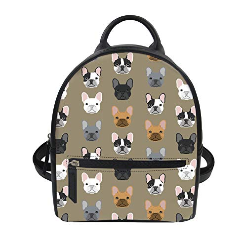 Vintage Mini Fashion Backpack for Instantarts Color Dog Cute Girl Women Floral 11 Purse dqaxnwC6n