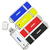 MeiNaMi 5PCS 32GB USB2.0 Flash Drive Thumb Drives Memory Stick - 5 Colors (Blue, Black, White, Red, Yellow)