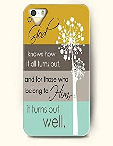 iPhone 4 4S Case OOFIT Phone Hard Case **NEW** Case with Design Oh God Knows How It All Turns Out, And For Those Who Belong To Him, It Turns Out Well.- - Case for Apple iPhone 4/4s