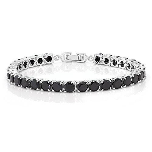 - Sparkling Multi-Color Round Cubic Zirconia CZ Women's Tennis Bracelet (7.50 cttw, 7 Inch), Black