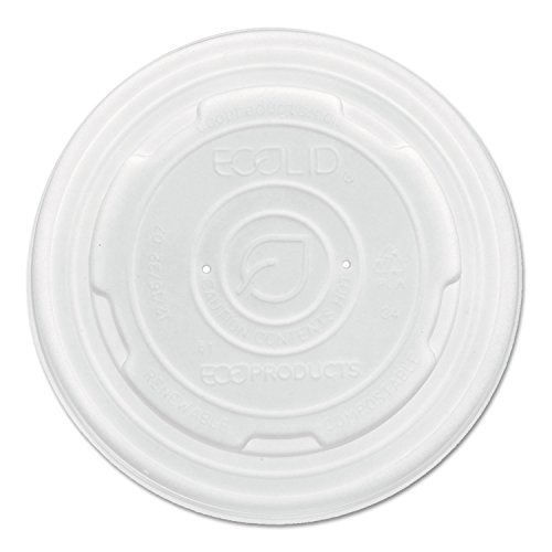Eco-Productsiuml;iquest;frac12; quot;World Art PLA-Laminated Soup Container Lids, Translucent, 8oz, 1000/Cartonquot; Includes 1000 container lids Unit of measure: CT, Manufacturer Part Number: EP-ECOLID-SPS