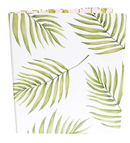 bloom daily planners Binder (+) 3 Ring Binder (+) 1 Inch Ring (+) 10'' x 11.5'' - Palm Leaves by bloom daily planners