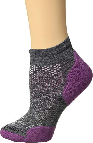 Womens Smartwool Apparel - Smartwool Women's PhD¿ Run Light Elite Low Cut Meadow Mauve Large