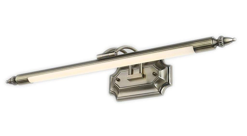 Mirror Lamps Home Europäische Retro LED Spiegel Scheinwerfer Warm Weiß 58cm 66cm (BadZubehör) (Farbe   58cm (5 W))