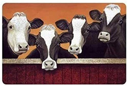 """Custom Door Mat Funny Milk Cow Decorative Doormat Indoor/Outdoor Doormat 23.6"""" x 15.7"""" Decor Rug Non-Woven Fabric"""