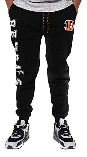 Basic Pants - NFL Cincinnati Bengals Men's Jogger Pants Active Basic Fleece Sweatpants, Small, Black