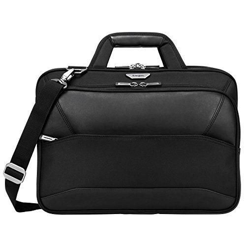 Targus Mobile-VIP Checkpoint-Friendly Laptop Bag for 15.6-Inch with SafePort Sling Drop Protection Laptop, Black (TBT264)