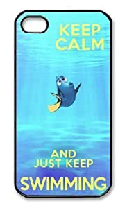 Keep Calm and Just Keep Swimming Iphone 6 4.7 Case Plastic Hard Phone Case-iphone 6 4.7