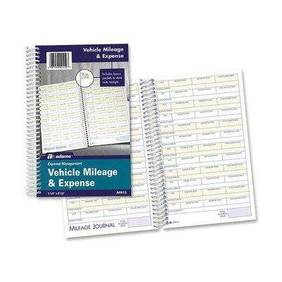 Adams Vehicle Expense Journal - ABFAFR12 - Adams Vehicle Mileage/Expense Journal Pocket