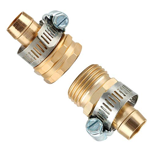 One76 Hose Repair Bundle, Garden Hose Repair Mender Kit Hose Connector 3/4 Male Female Connector Set (Gold) from One76 Garden