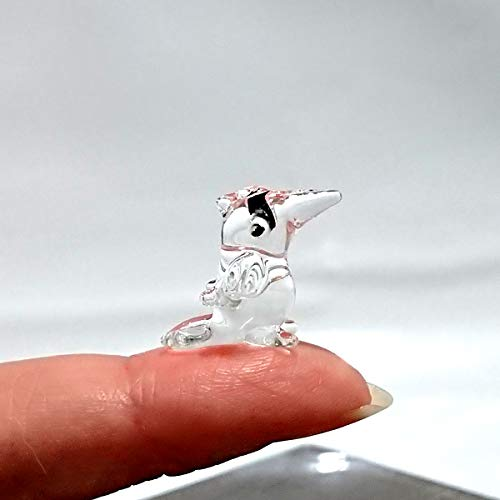 Sansukjai Rare Toucan Tiny Micro Crystal Figurines Hand Blown Clear Glass Art Birds Animals Collectible Gift Home ()