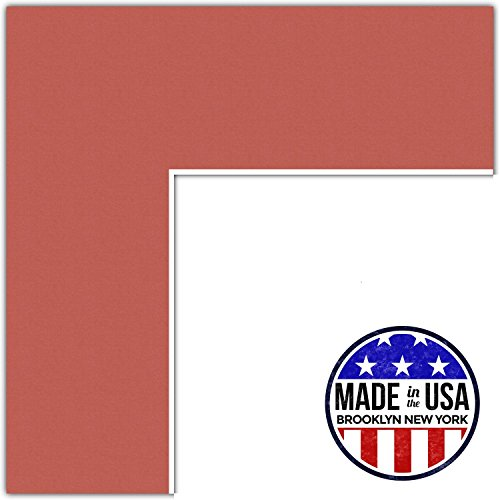 23x31 Carnelian / Red Orange Custom Mat for Picture Frame with 19x27 opening size (Mat Only, Frame NOT Included)