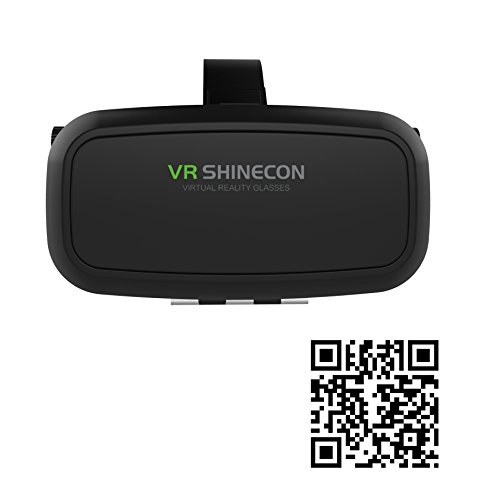 "VR SHINECON VR Headset Glasses Virtual Reality Mobile Phone 3D Movies for iPhone 6s/6 plus/6/5s/5c/5 Samsung Galaxy s5/s6/note4/note5 and Other 4.7""-6.0"" Cellphones"