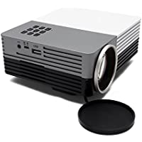 Aenmil Mini Multimedia Projector Maximum 120 Screen Portatable LED LCD Pocket HD Projector Home Theater 480x320 Pixels Resolution, 16:9 and 4:3 Aspect Ratio, Multi-function Interface USB/SD/VGA/HDMI/AV/Micro USB, Power Bank Supported
