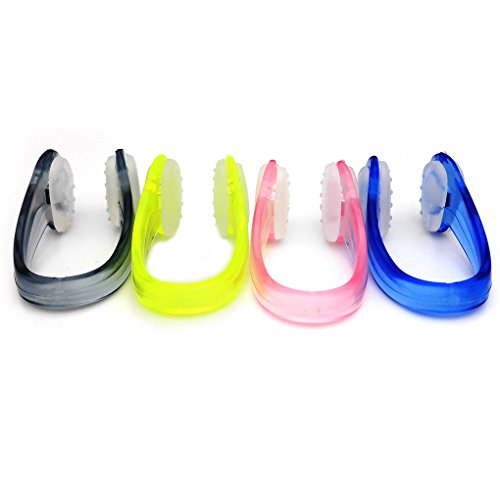 - BRBD 4Sets Anti-Slip Dotted Swimming Nose Clip with Package for Adults (Multi-Color)