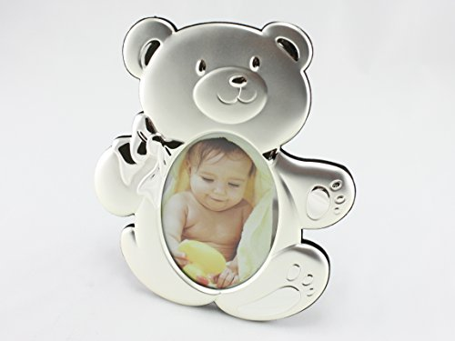 Price comparison product image Skyway Baby Teddy Bear Photo Picture Frame Keepsake - Silver