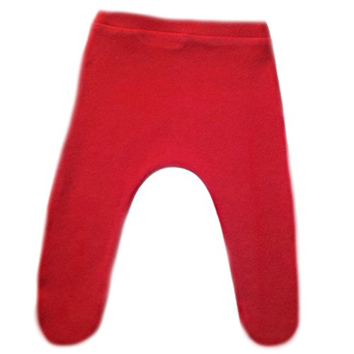 Jacqui's Baby Girls' Cotton Knit Tights with Elastic Waist - Lots of Colors, Preemie, Red