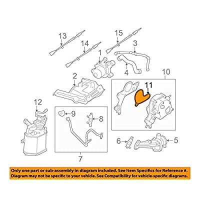 VW OEM Vacuum Pump Gasket 2.5 Jetta Beetle Rabbit Golf Passat SportWagen 07K145215A: Automotive