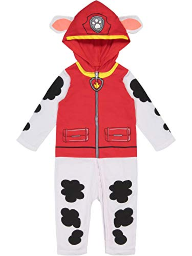 Nickelodeon Paw Patrol Marshall Toddler Boys' Costume Coverall with Hood (3T)
