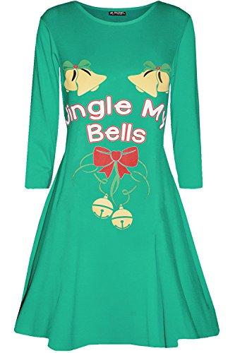 b27081518018a Be Jealous Womens Ladies Santa Reindeer Wall Snowflake Costume Christmas  Xmas Swing Dress UK Plus Size 8-26