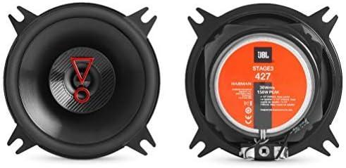 2 altoparlanti compatibile con JBL STAGE3 427 coassiali a 2 vie da 4 10,00 cm 100 mm da 60 watt rms e 300 watt max 3 ohm 90 db spl per auto a coppia