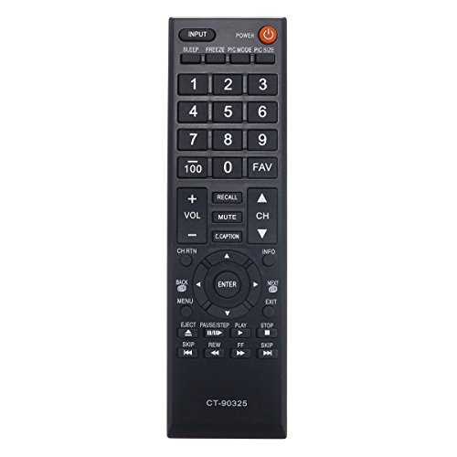 Aurabeam CT-90325 Replacement TV Remote Control for Toshiba Television (CT90325 / 75014374/75022871)