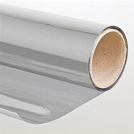 Protector para el sol con efecto espejo, 91 x 900 cm, color plata, autoadhesivo 91x 900cm Folien-Gigant 3007510013