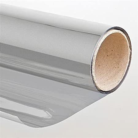 Pellicola autoadesiva antisolare Effetto specchio (75x900 cm) Argento protezione LED-Gigant 3009010001