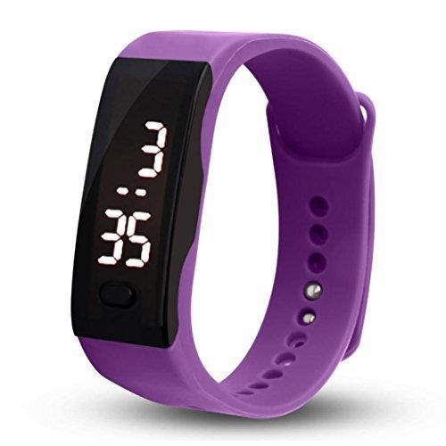 Unisex White Rubber Bracelet LED Digital Wrist Watch - 4