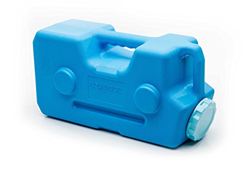 (AquaBrick Emergency Water & Food Storage Container, Portable Stackable Storage Containers, Water Storage, BPA Free by SaganLife (1 Container))