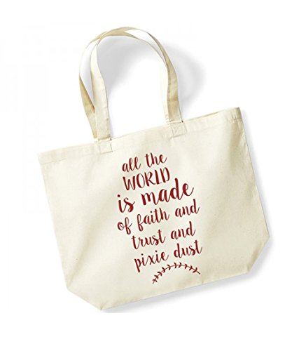Unisex Print red Natural World Cotton Kelham Dust Faith Of Tote The Trust Made Bag All Canvas Is Slogan And Pixie 5qdxFHxB
