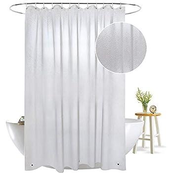 OTraki EVA Shower Curtain 47x72 Non Toxic Liner Mildew Resistant Anti Bacterial Semi Transparent Heavy