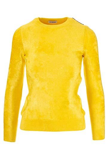 Balenciaga Luxury Fashion Womens 576315T51117200 Yellow Sweater | Fall Winter 19