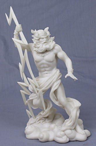 Amazon Com Greek God Zeus With Lightning Bolt Statue 10 1 2 Inch Home Kitchen