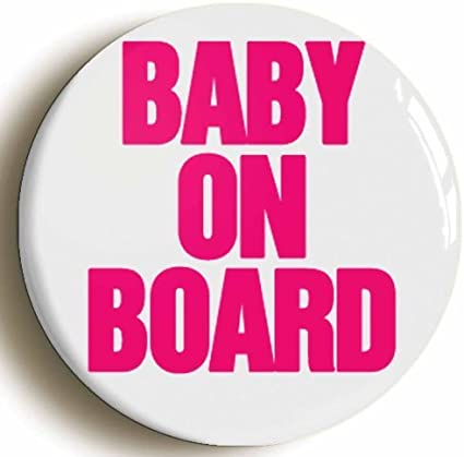 Baby on Board BADGE 25mm 1 INCH Royal Red Mum To Be Pregnant Baby Button Badge