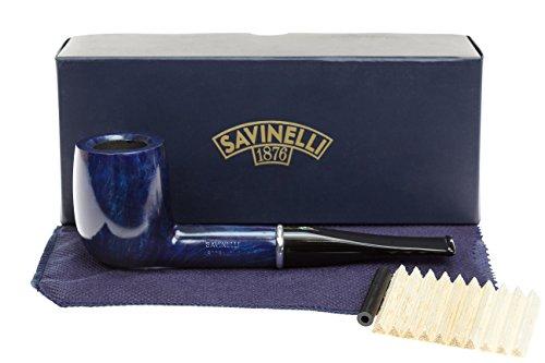 Savinelli Arcobaleno 111 Blue Tobacco Pipe - Smooth by Savinelli
