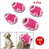 Como Size 1 Nonslip Sole Detachable Closure Doggy Sandals Shoes Pink Magenta 4 Pcs, My Pet Supplies
