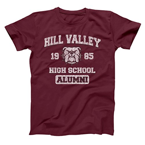 Hill Valley 1985 Funny Classic Back Future High School California Retro 80s 90s Movie Humor Mens Shirt Medium - Valley Outlets