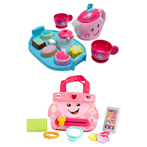 Fisher-Price Laugh & Learn My Smart Purse Bundled with Fisher-Price Laugh & Learn Sweet Manners Tea Set