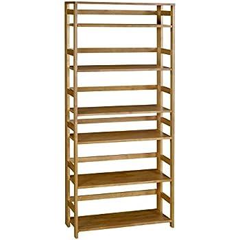 Beautiful Regency Flip Flop 67 Inch High Folding Bookcase  Medium Oak
