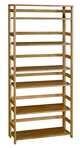 Regency Flip Flop 67-inch High Folding Bookcase- Medium Oak