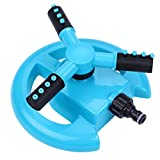 TOLOCO Garden Sprinkler, 360° Automatic Rotating Portable Lawn Sprinkler, Adjustable Gardening Supplies 3 Arm Nozzle Watering System- Water Up to 3,600 Sq. Ft. Coverage (Type 1) For Sale