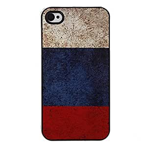 Flag of Russia Pattern Aluminous Hard Case for iPhone 4 by ruishername